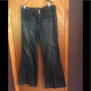 Express x2 High Waist Wide Leg Jeans Size 12